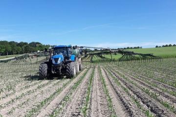 Ausbringung im Mais ohne Fahrgassen